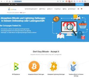 Bitcoin akzeptieren mit Coincharge