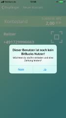 Bitbucks Freunde einladen per SMS