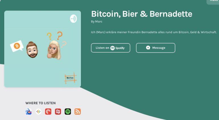 Bitcoin Bier Bernadette
