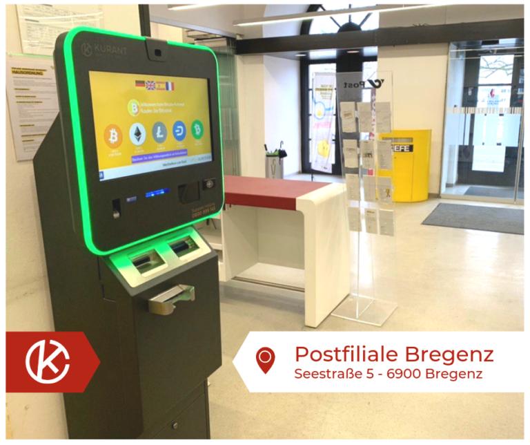 Bitcoin Automat Postfiliale Bregenz