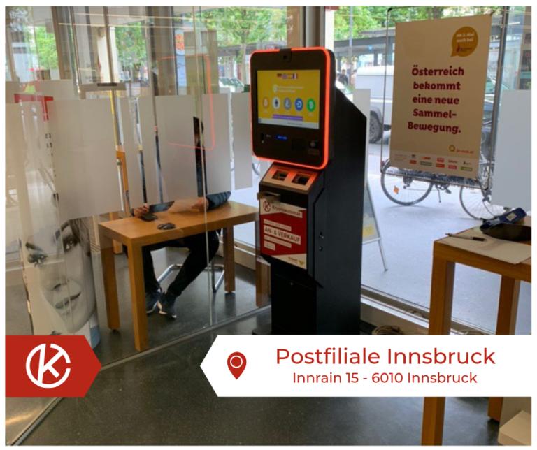 Bitcoin Automat Postfiliale Innsbruck