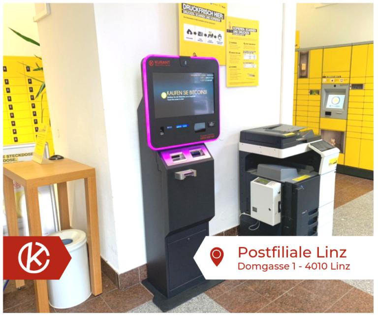 Bitcoin Automat Postfiliale Linz
