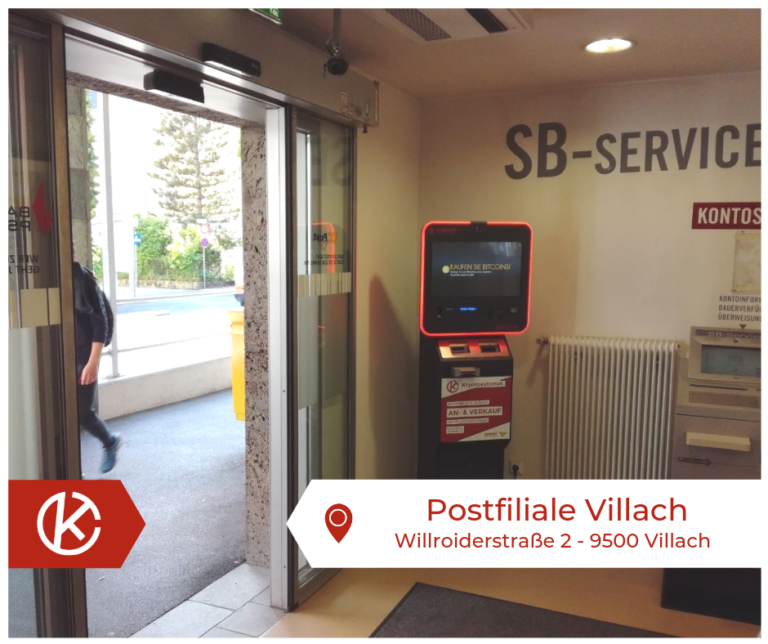 Bitcoin Automat Postfiliale Villach