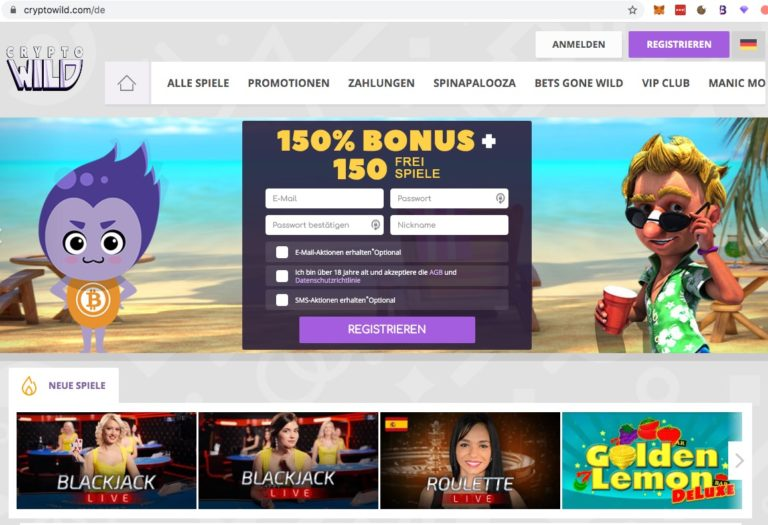 CryptoWild Bitcoin Casino – Das Wildeste Crypto Casino   CryptoWild Bitcoin Casino – Das Wildeste Crypto Casino 768x525