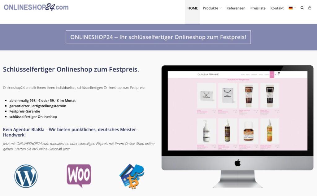 Onlineshop zum festpreis